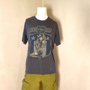 Vintage Y2K Chevy pin up style crewneck T-shirt